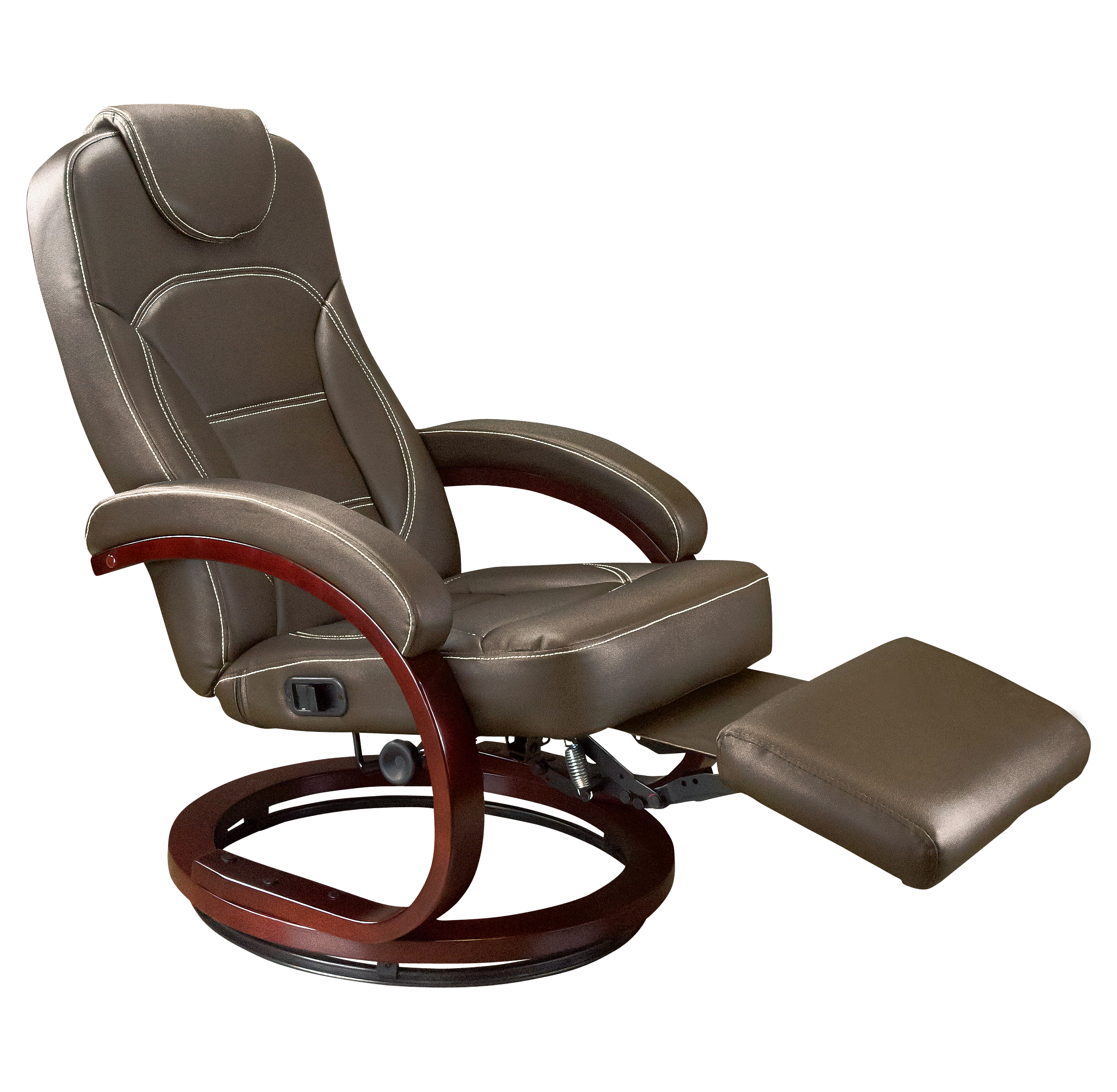 XL Euro Recliner Chair With Footrest Brookwood Chestnut VR Expert